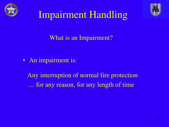 What is an impairment