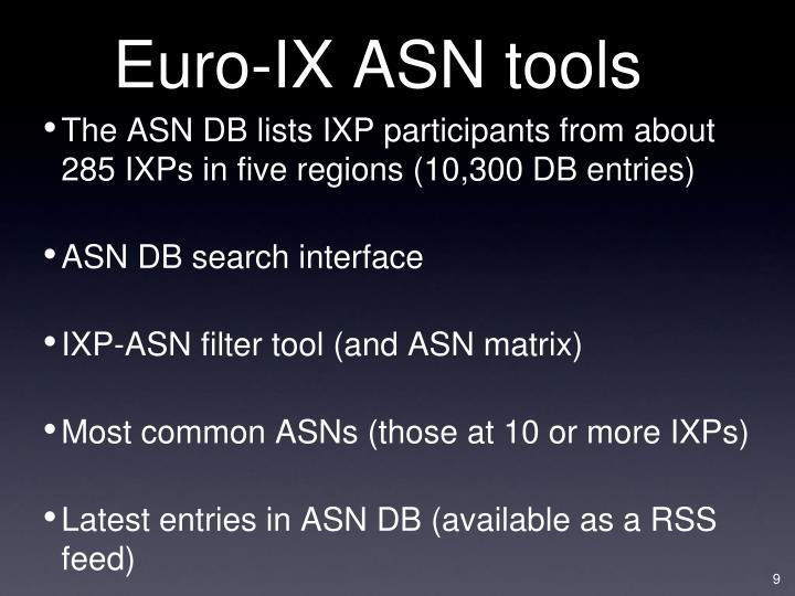 Euro-IX ASN tools