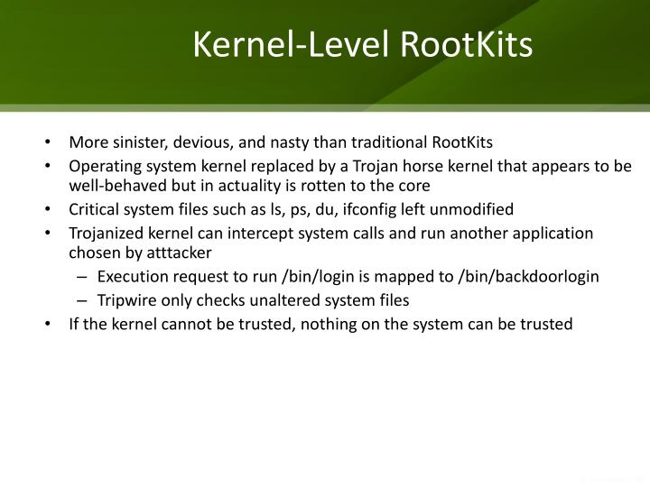 Kernel-Level RootKits