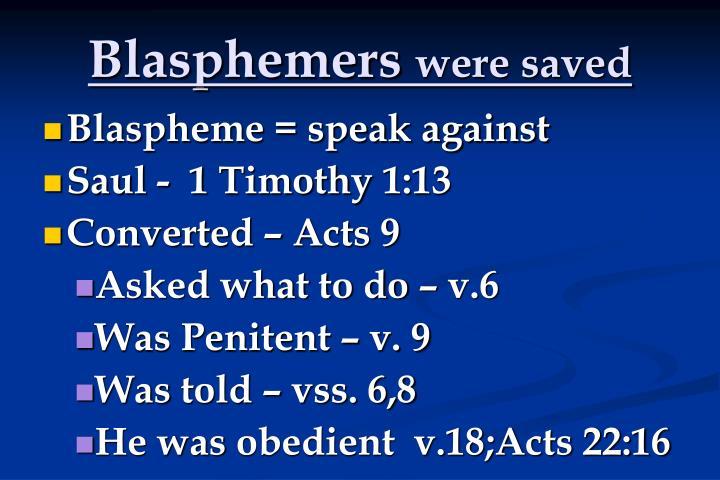 Blasphemers