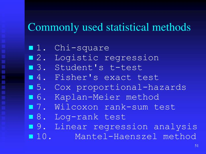Commonly used statistical methods