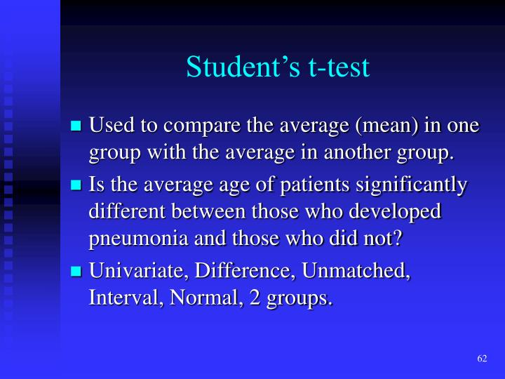 Student's t-test