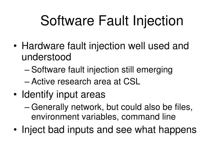 Software Fault Injection