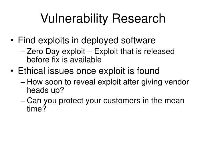 Vulnerability Research