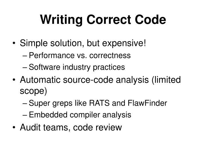 Writing Correct Code