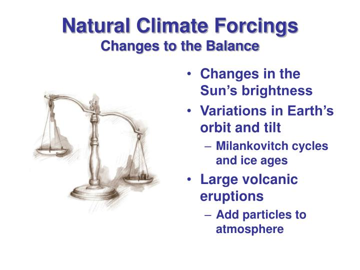 Natural Climate Forcings