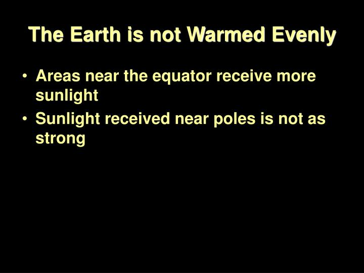 The Earth is not Warmed Evenly