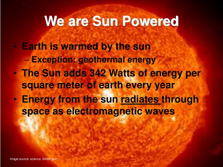 We are sun powered