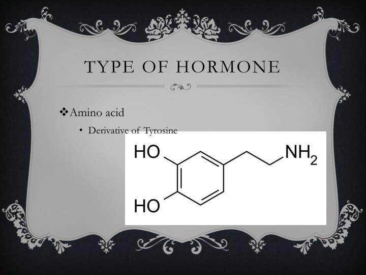 Type of hormone