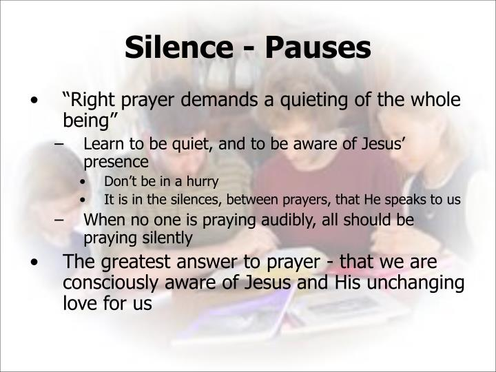 Silence ‑ Pauses