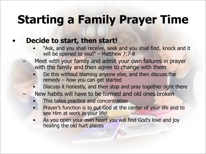 Starting a Family Prayer Time