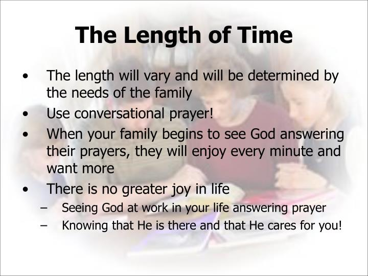 The Length of Time