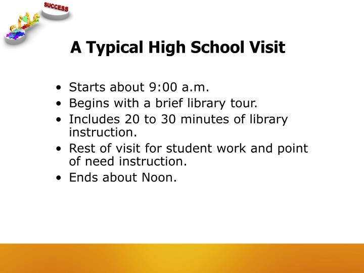 A Typical High School Visit