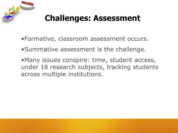 Challenges: Assessment