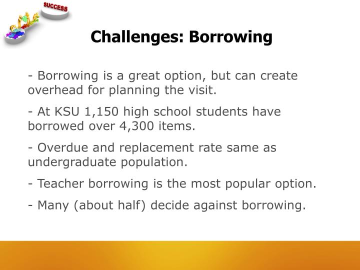 Challenges: Borrowing