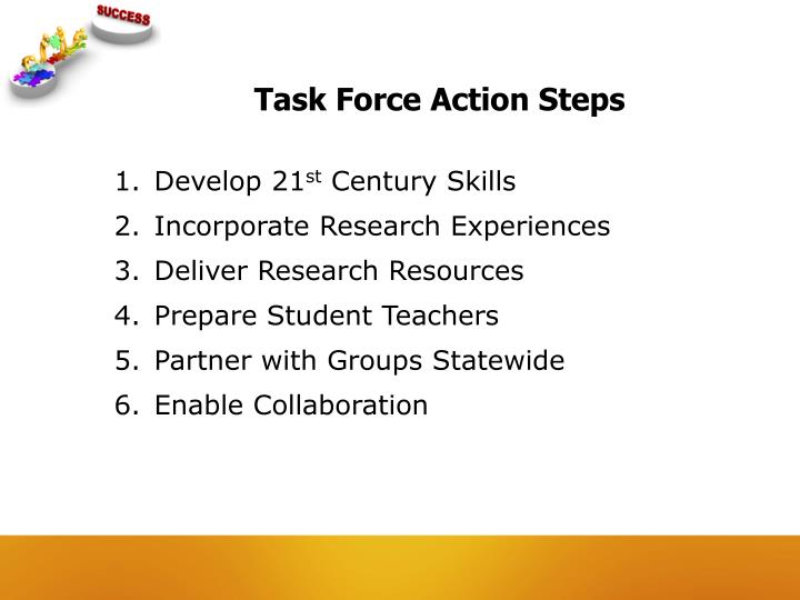 Task Force Action Steps