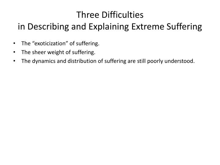 Three Difficulties