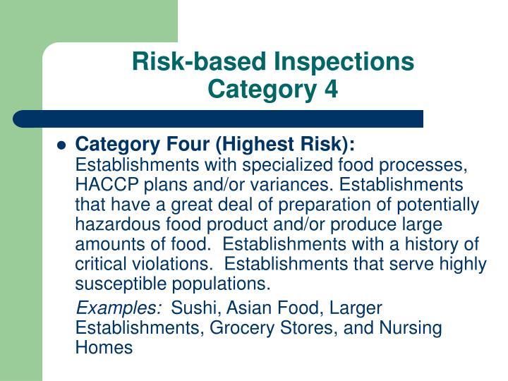 Risk-based Inspections