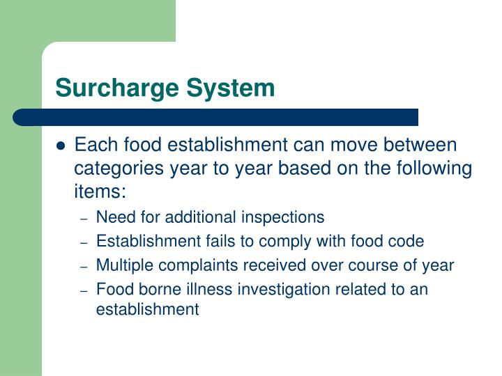 Surcharge System
