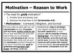 motivation reason to work