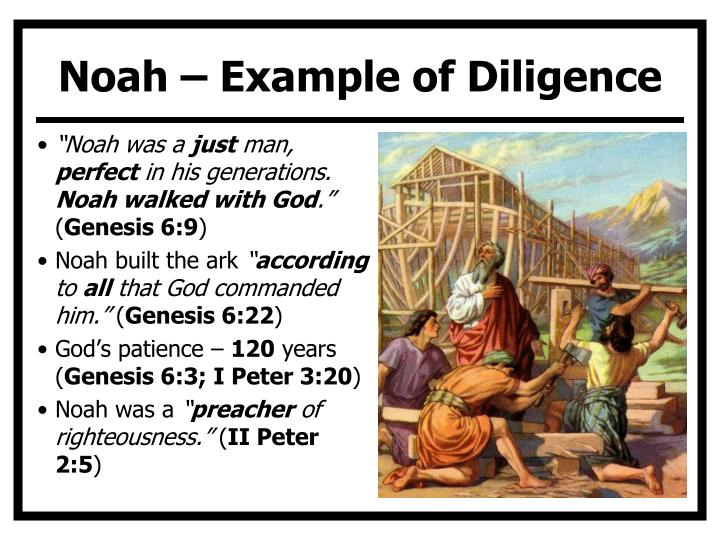 Noah – Example of Diligence