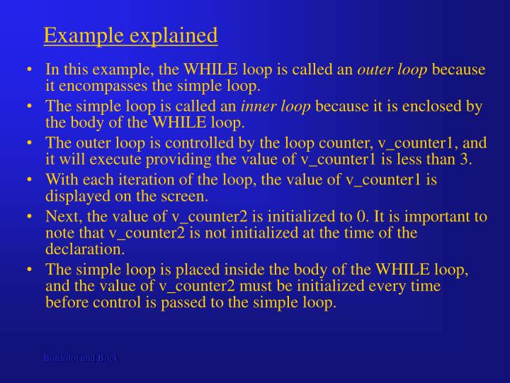 Example explained