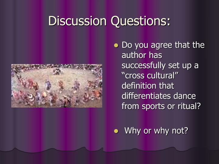 Discussion Questions: