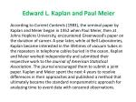 edward l kaplan and paul meier