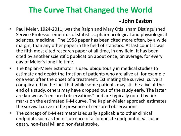 The curve that changed the world john easton