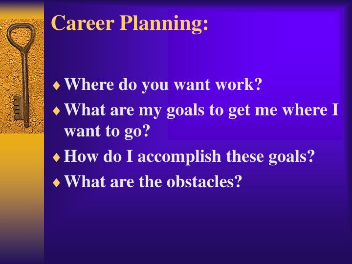 Career Planning: