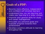 goals of a pdp