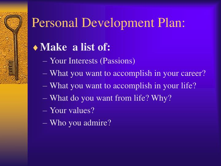 Personal Development Plan: