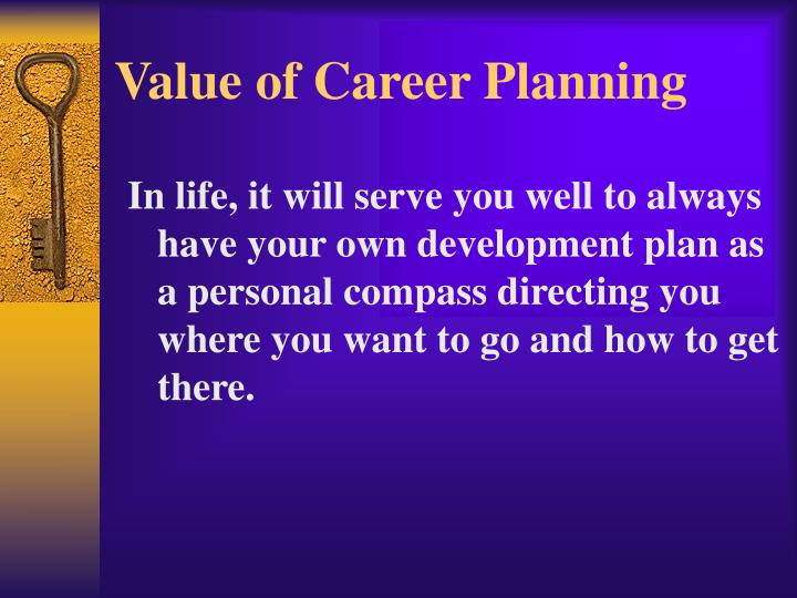 Value of Career Planning
