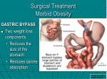 surgical treatment morbid obesity
