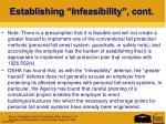 establishing infeasibility cont1