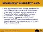 establishing infeasibility cont2