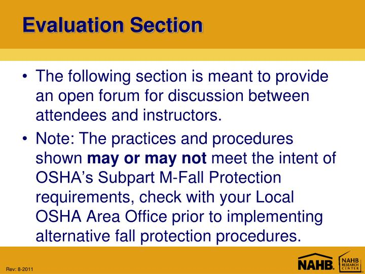 Evaluation Section