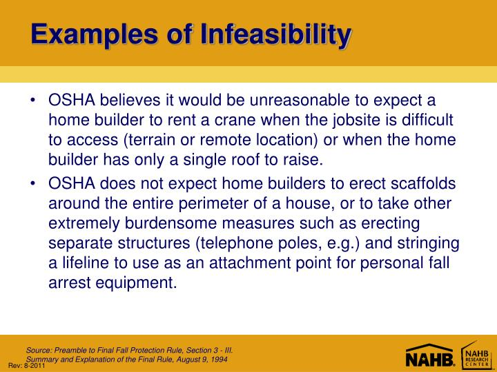 Examples of Infeasibility