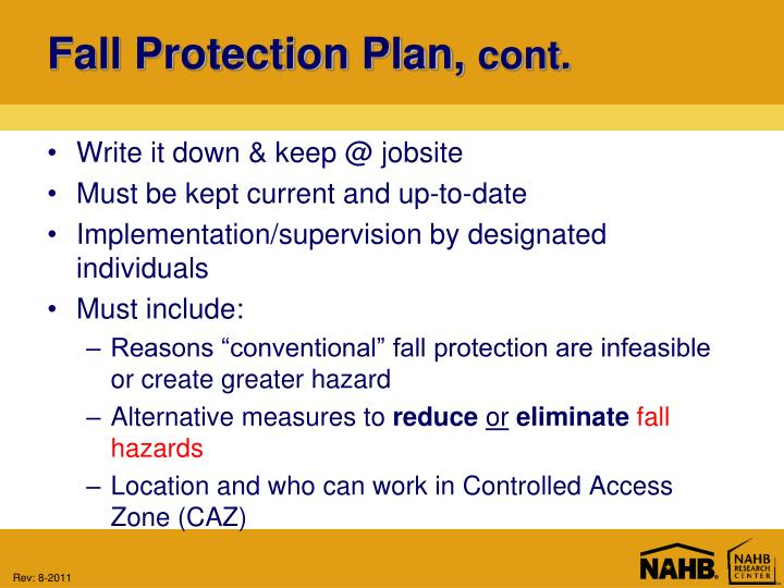 Fall Protection Plan,