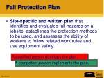 fall protection plan