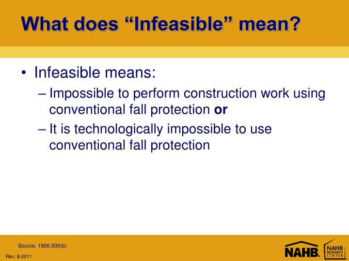 "What does ""Infeasible"" mean?"
