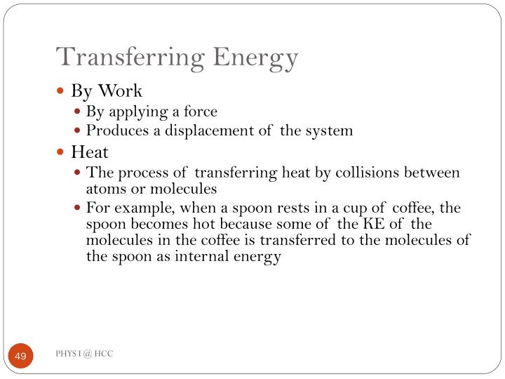 Transferring Energy