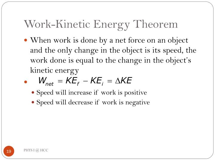 Work-Kinetic Energy Theorem
