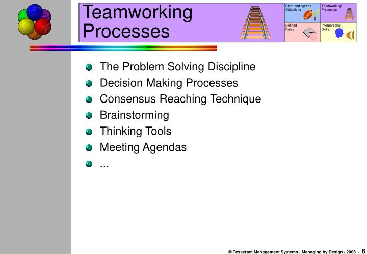 Teamworking Processes