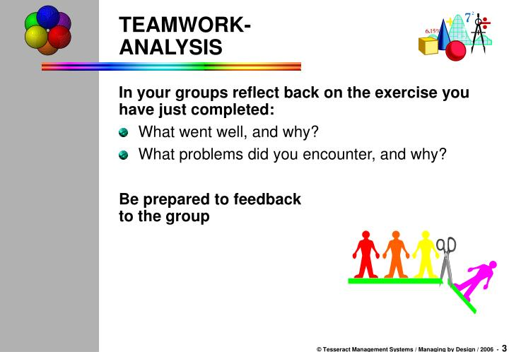 Teamwork analysis
