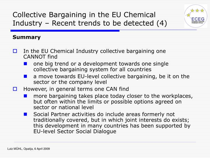 Collective Bargaining in the EU Chemical Industry – Recent trends to be detected (4)