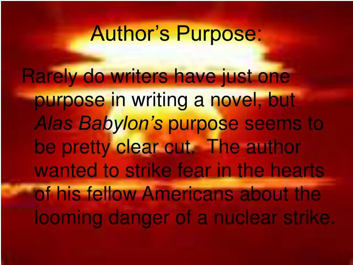 Author's Purpose: