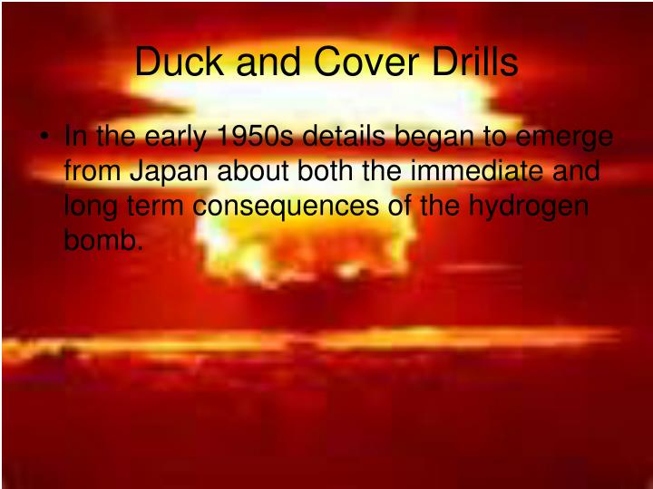 Duck and Cover Drills