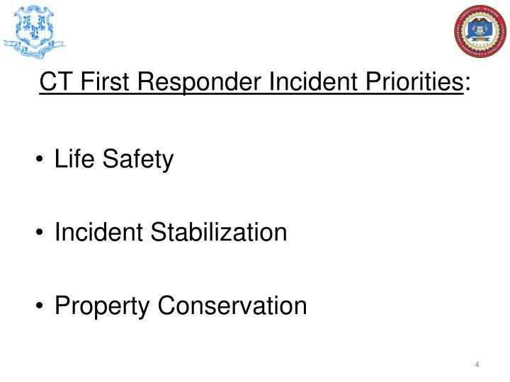 CT First Responder Incident Priorities