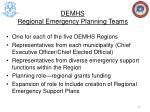 demhs regional emergency planning teams